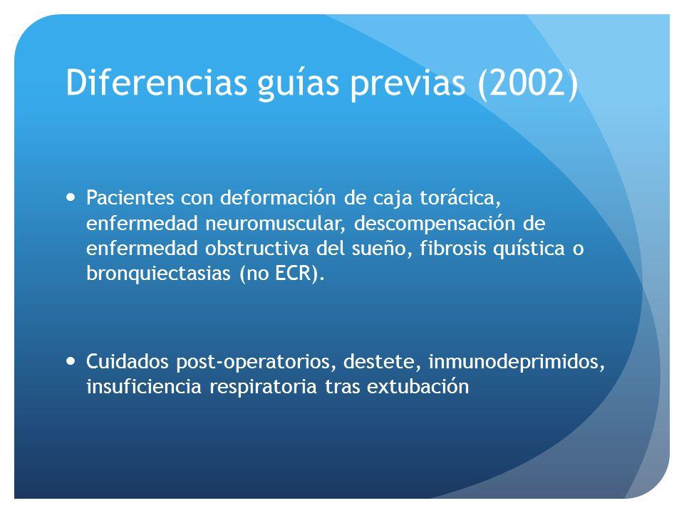 Diferencias guías previas (2002)