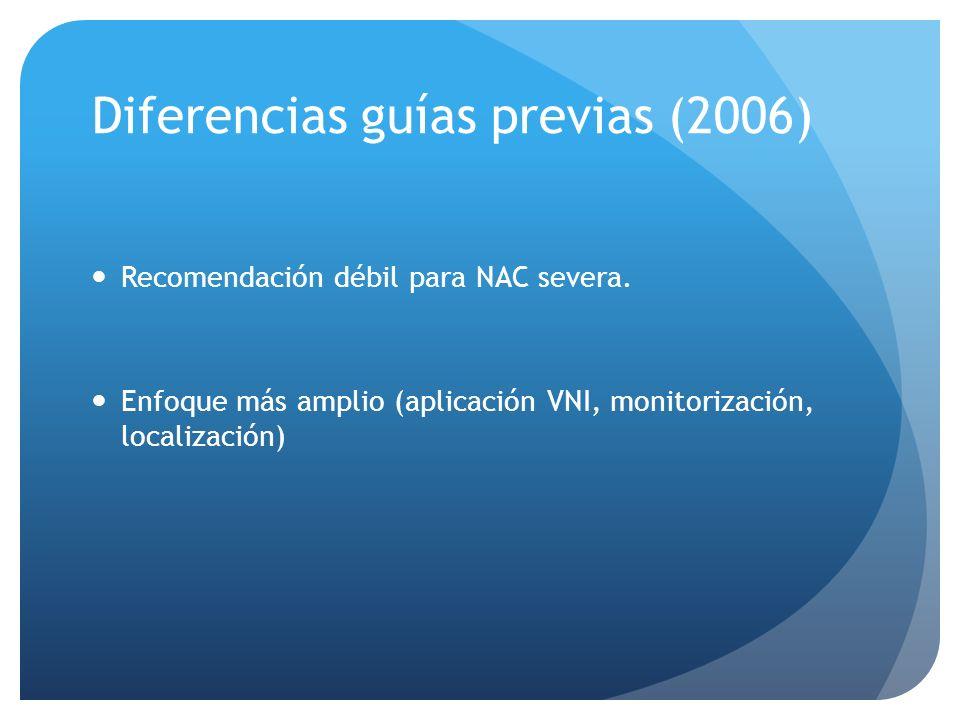 Diferencias guías previas (2006)