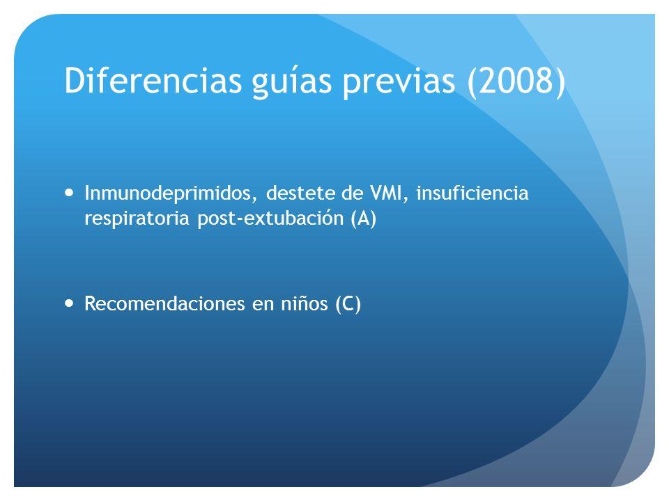 Diferencias guías previas (2008)