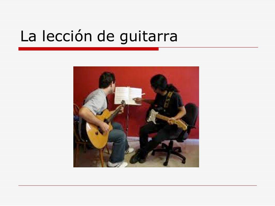 La lección de guitarra