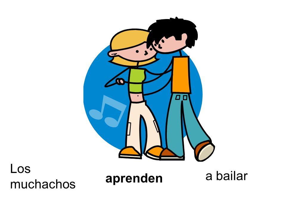 Los muchachos a bailar aprenden