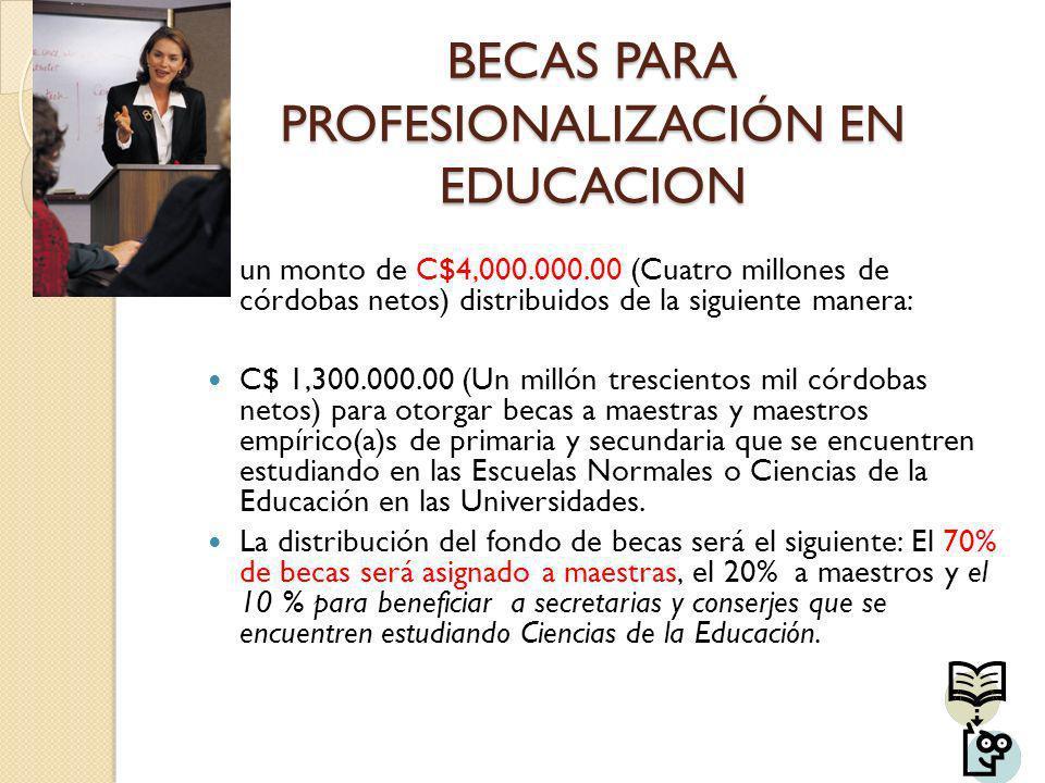 BECAS PARA PROFESIONALIZACIÓN EN EDUCACION