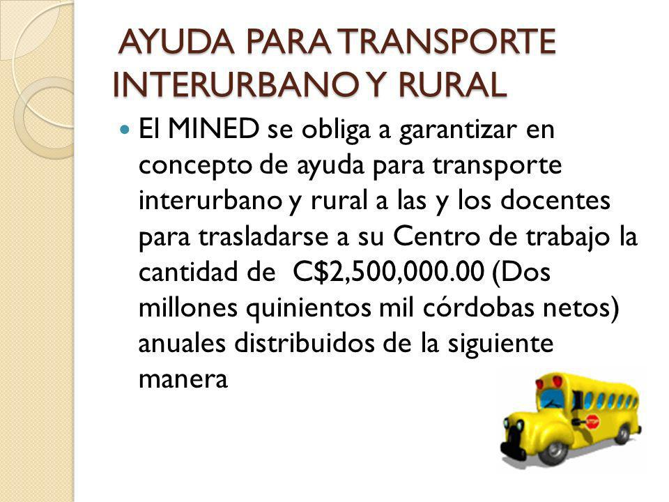 AYUDA PARA TRANSPORTE INTERURBANO Y RURAL
