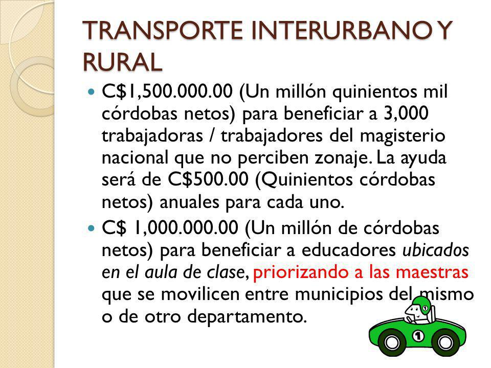 TRANSPORTE INTERURBANO Y RURAL