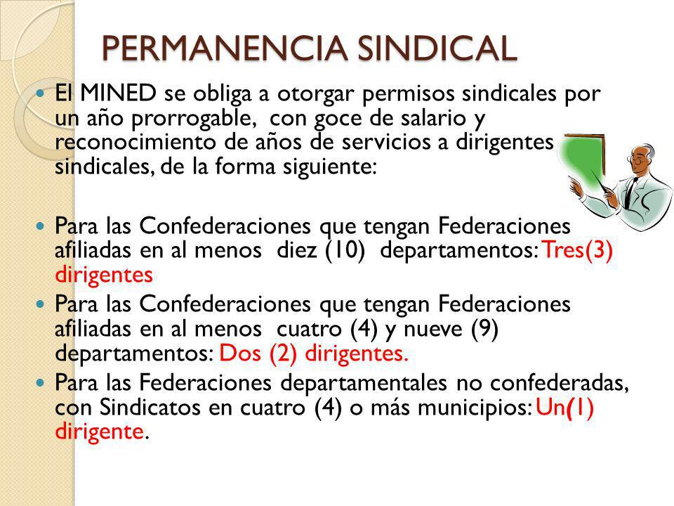 PERMANENCIA SINDICAL
