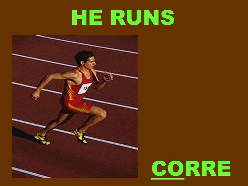 HE RUNS CORRE