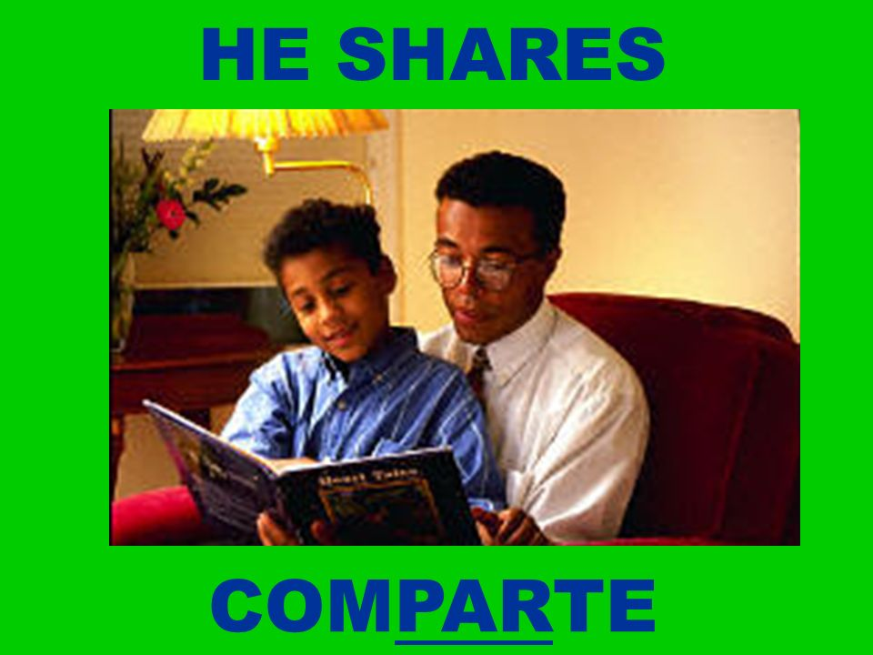 HE SHARES COMPARTE