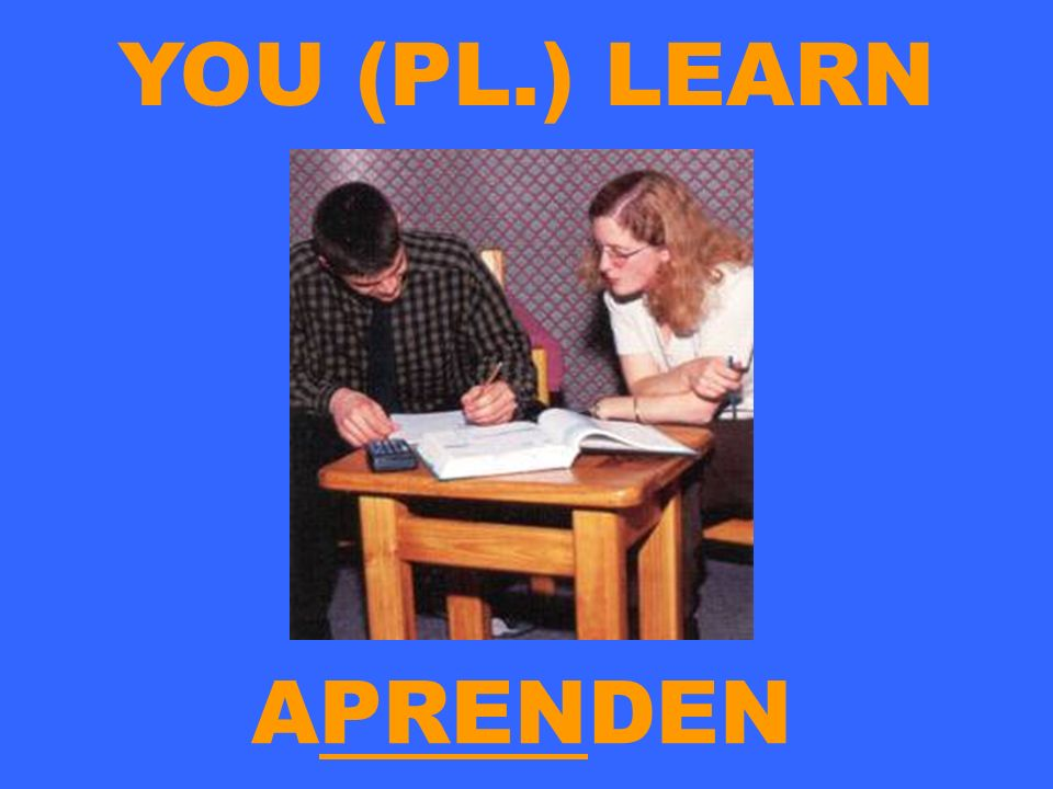 YOU (PL.) LEARN APRENDEN