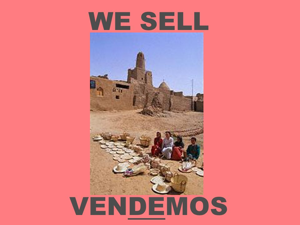 WE SELL VENDEMOS