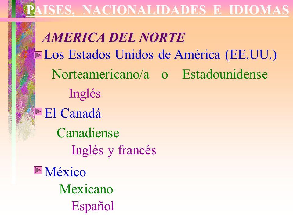 Mundo Intercultural Países Y Nacionalidades En Español: Los Estados Unidos De América (EE.UU.)