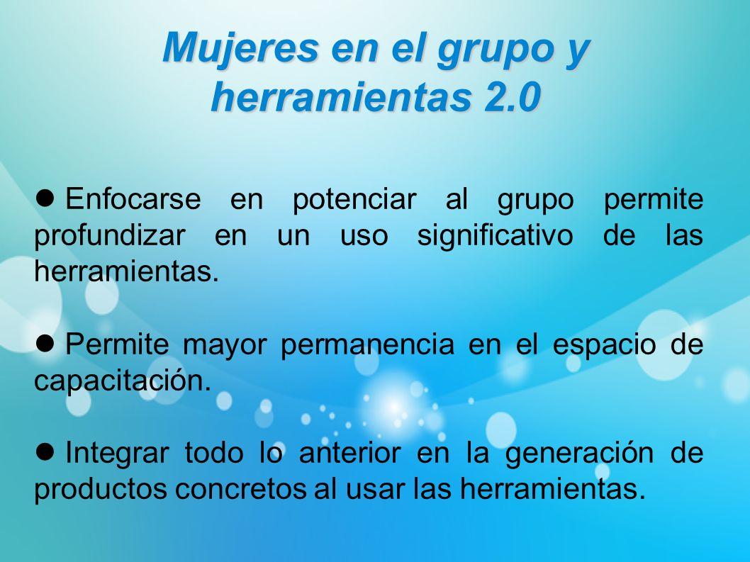 Mujeres en el grupo y herramientas 2.0