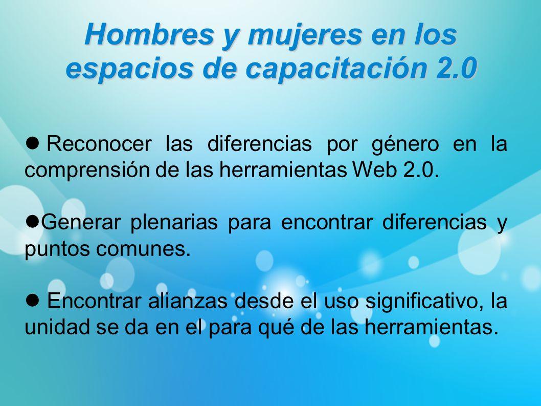 Hombres y mujeres en los espacios de capacitación 2.0