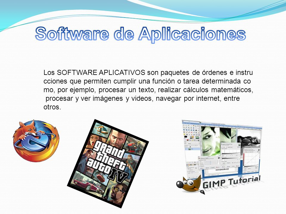 Software de Aplicaciones