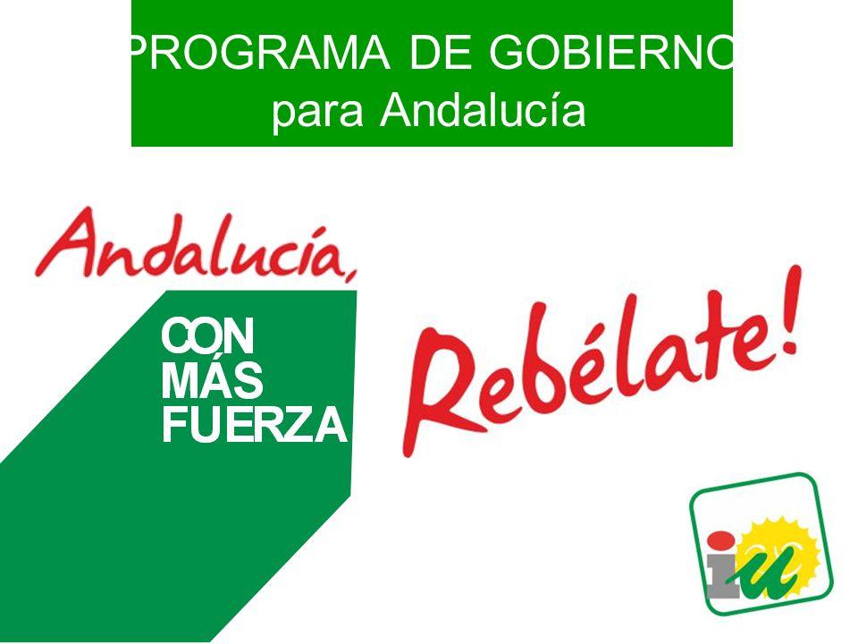 PROGRAMA DE GOBIERNO para Andalucía