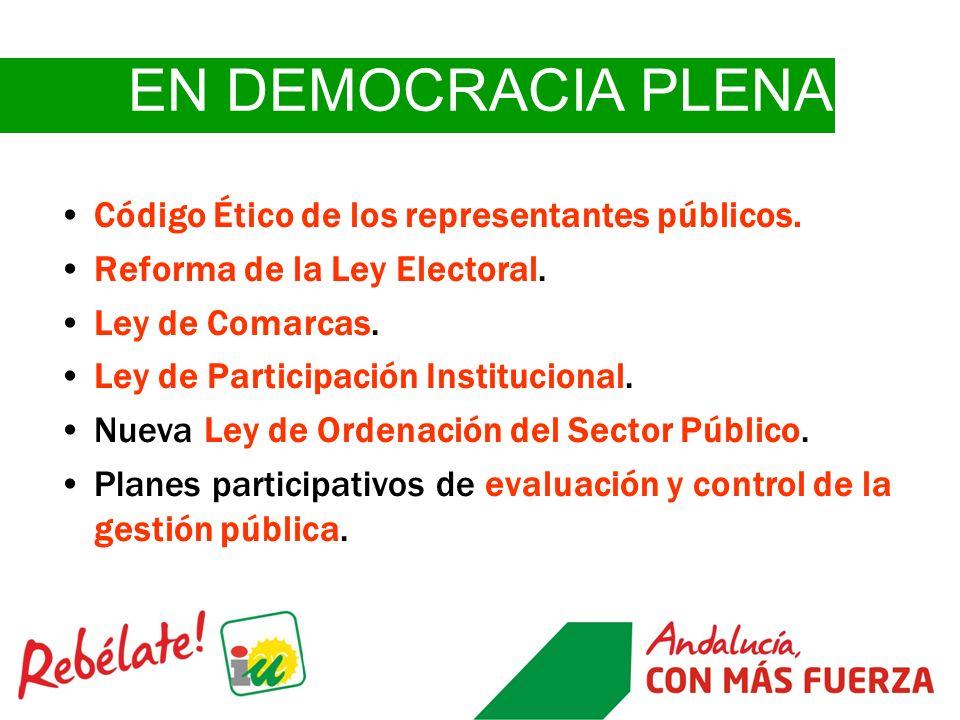 EN DEMOCRACIA PLENA Código Ético de los representantes públicos.