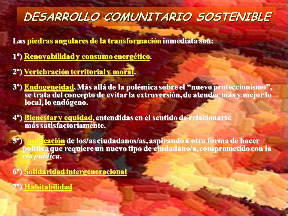 DESARROLLO COMUNITARIO SOSTENIBLE