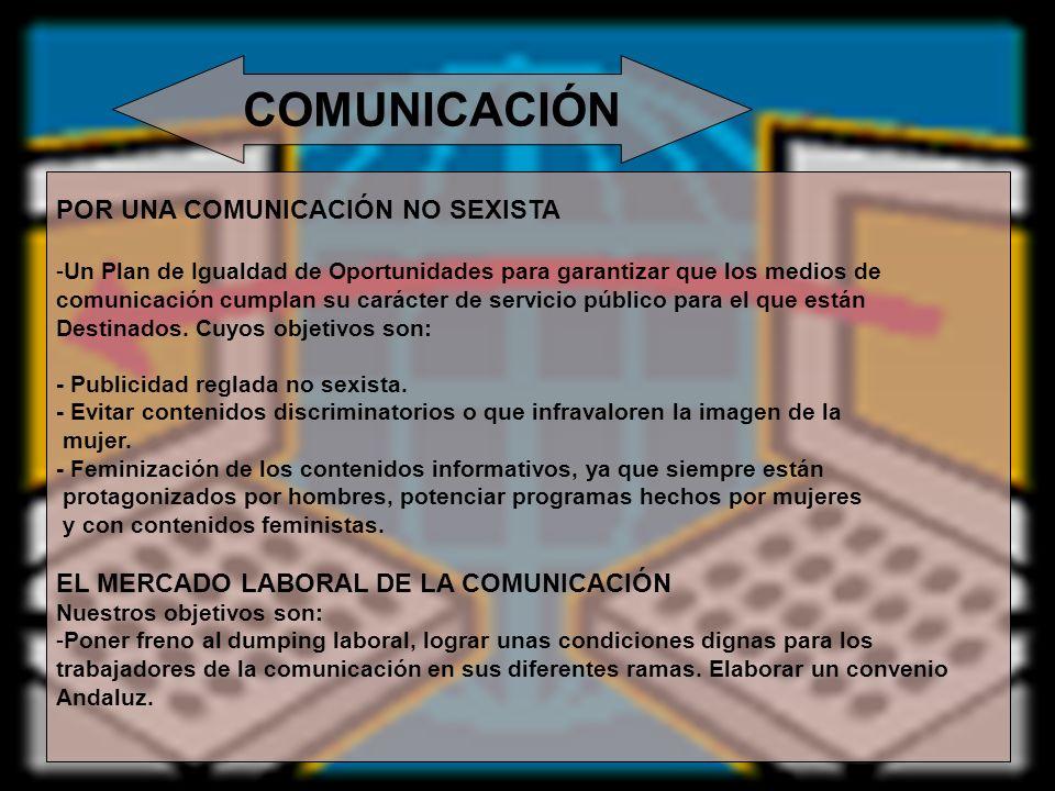 COMUNICACIÓN POR UNA COMUNICACIÓN NO SEXISTA