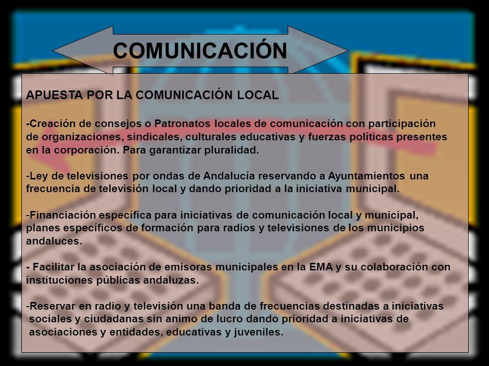 COMUNICACIÓN APUESTA POR LA COMUNICACIÓN LOCAL
