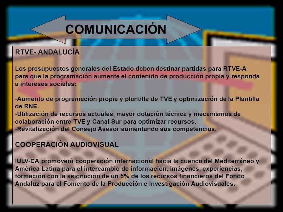 COMUNICACIÓN RTVE- ANDALUCÍA COOPERACIÓN AUDIOVISUAL