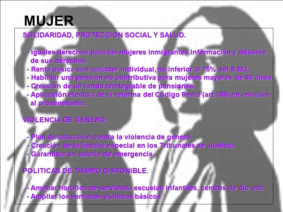 MUJER SOLIDARIDAD, PROTECCION SOCIAL Y SALUD.