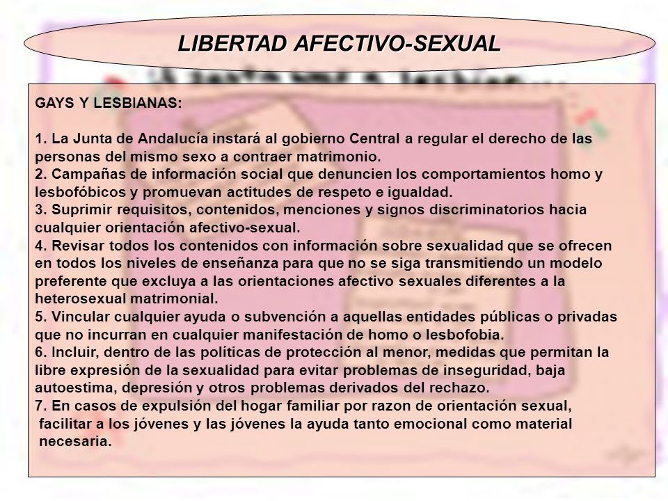 LIBERTAD AFECTIVO-SEXUAL