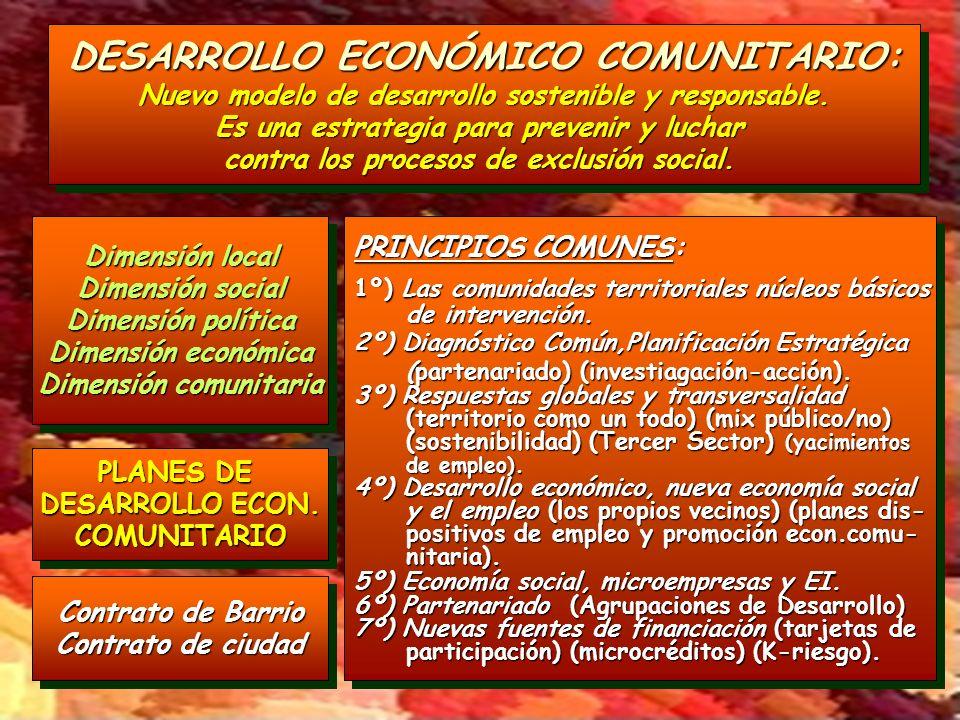 DESARROLLO ECONÓMICO COMUNITARIO: