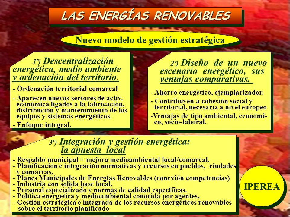 LAS ENERGÍAS RENOVABLES Nuevo modelo de gestión estratégica