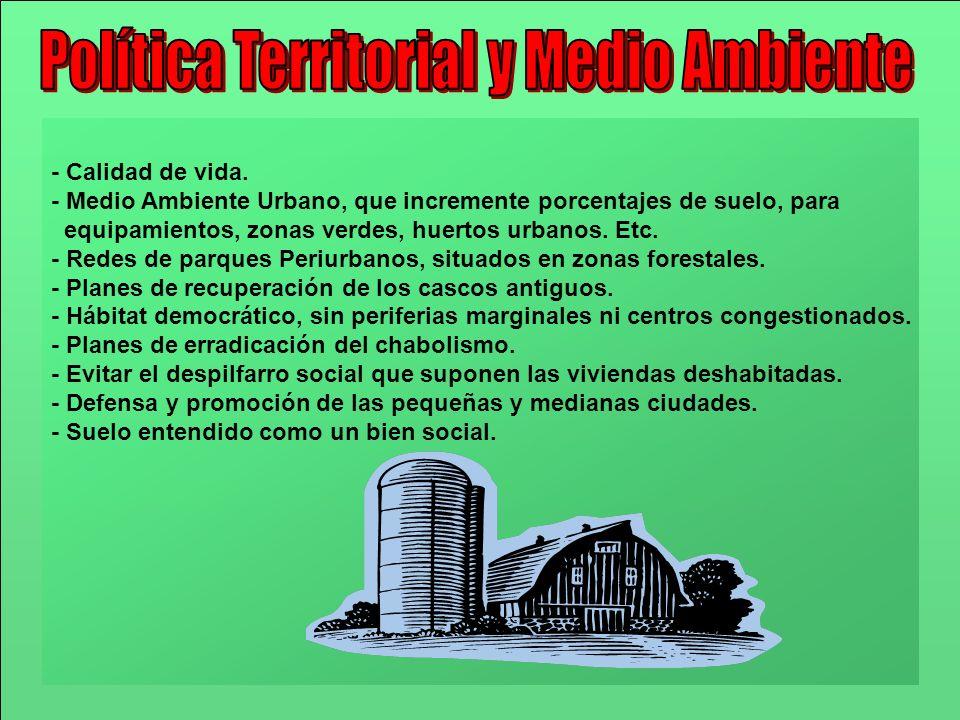 Política Territorial y Medio Ambiente