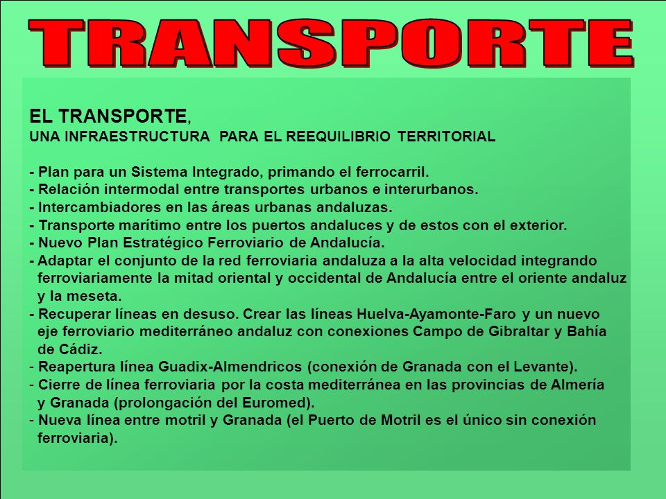 TRANSPORTE EL TRANSPORTE,