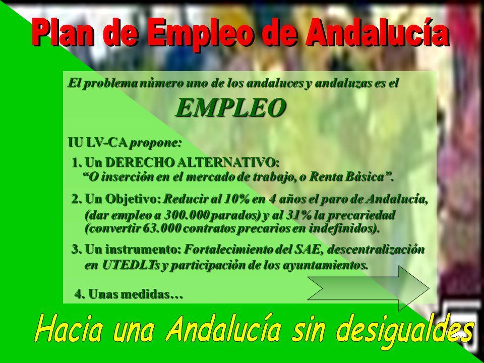 Plan de Empleo de Andalucía Hacia una Andalucía sin desigualdes