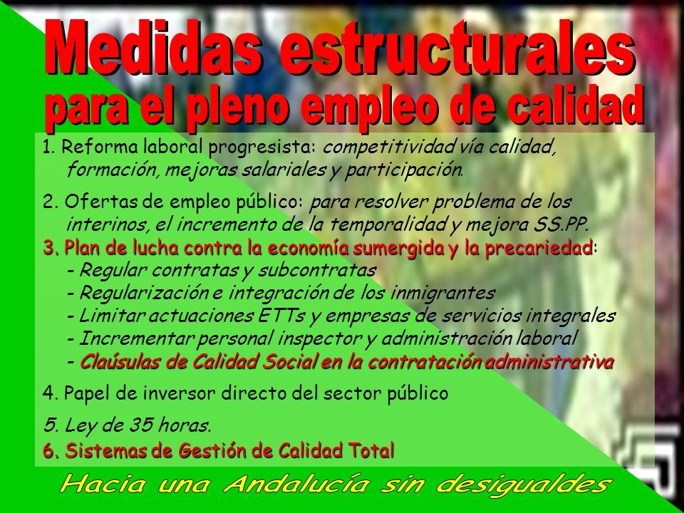 Medidas estructurales Hacia una Andalucía sin desigualdes