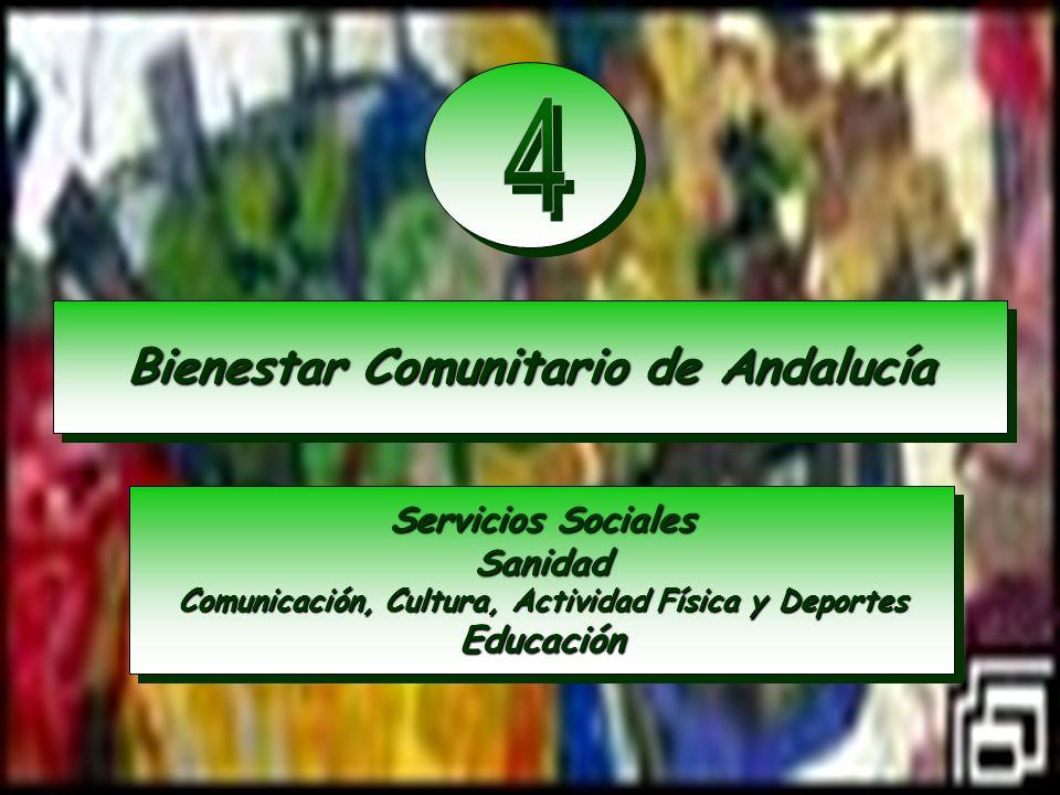 4 Bienestar Comunitario de Andalucía Servicios Sociales Sanidad