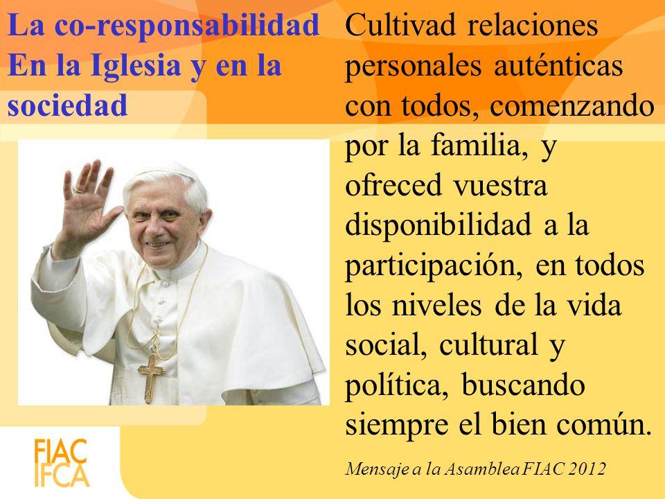 La co-responsabilidad En la Iglesia y en la sociedad