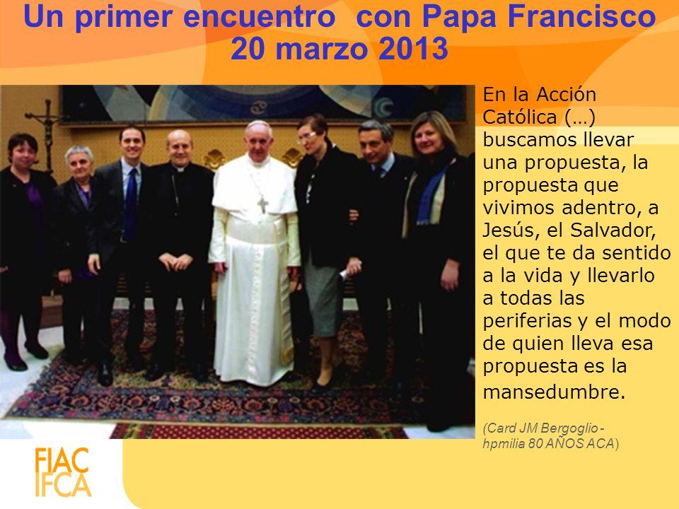 Un primer encuentro con Papa Francisco