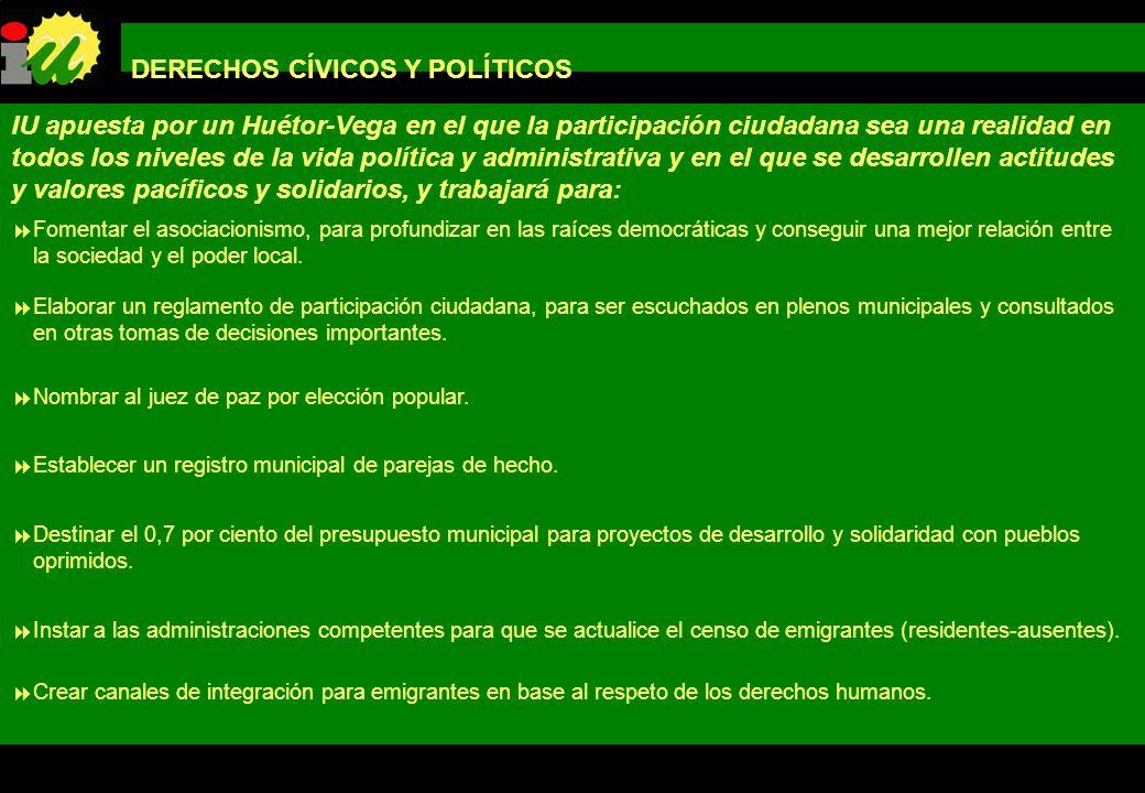 DERECHOS CÍVICOS Y POLÍTICOS