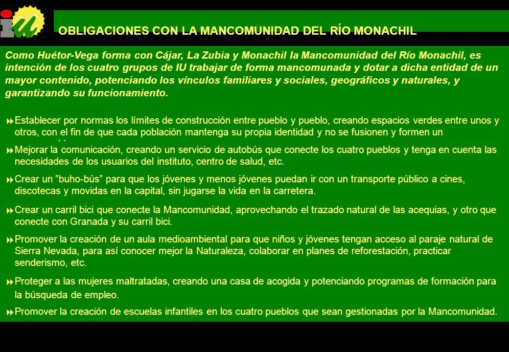 OBLIGACIONES CON LA MANCOMUNIDAD DEL RÍO MONACHIL