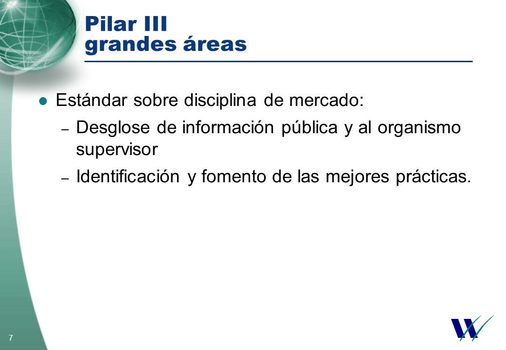 Pilar III grandes áreas