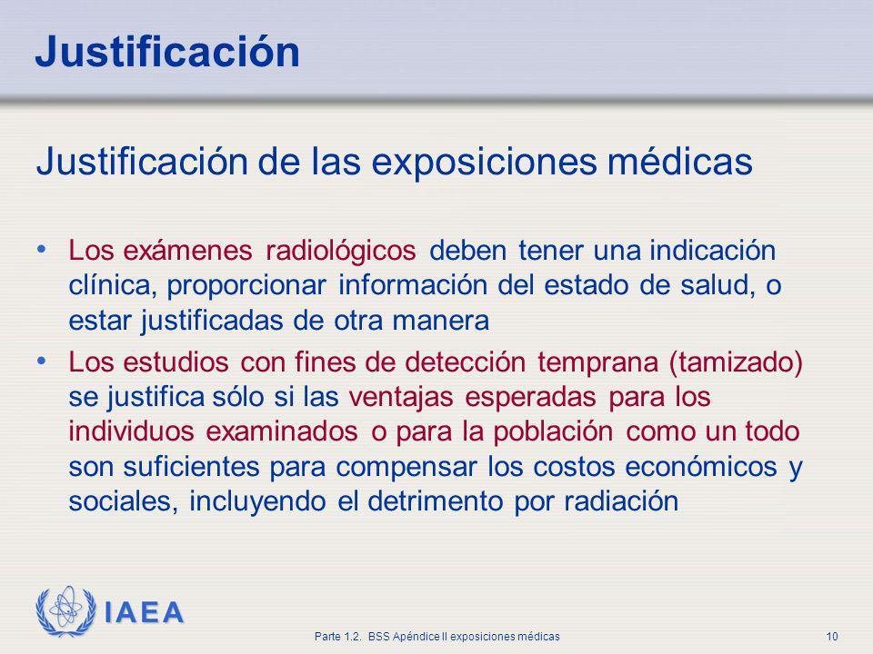 Justificación Justificación de las exposiciones médicas