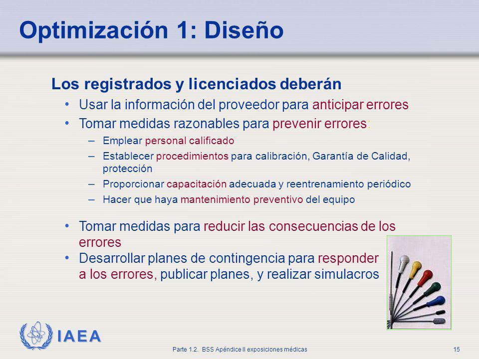 Optimización 1: Diseño Los registrados y licenciados deberán