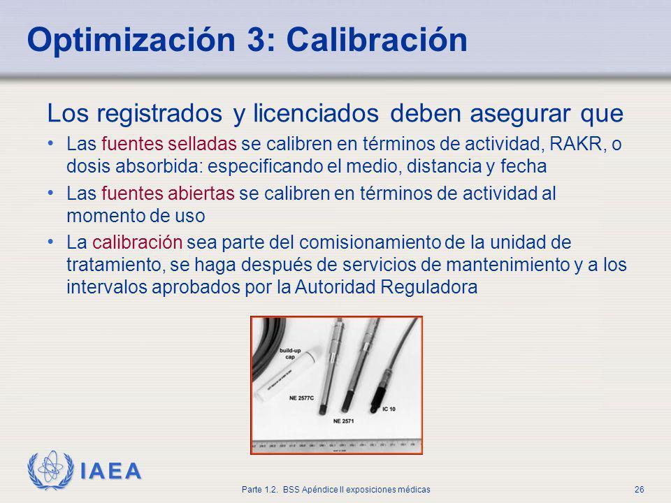 Optimización 3: Calibración