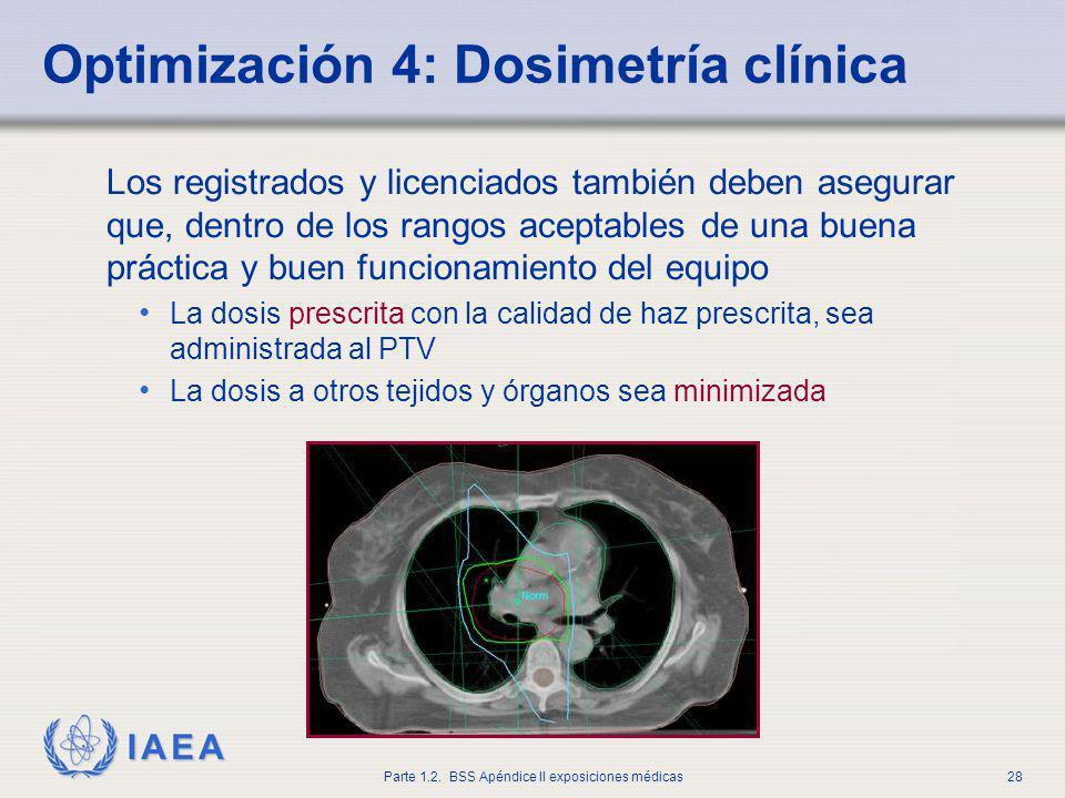 Optimización 4: Dosimetría clínica