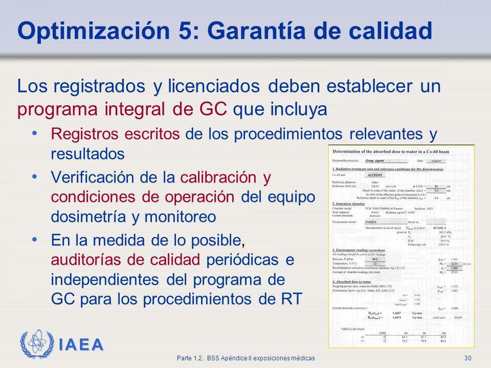 Optimización 5: Garantía de calidad