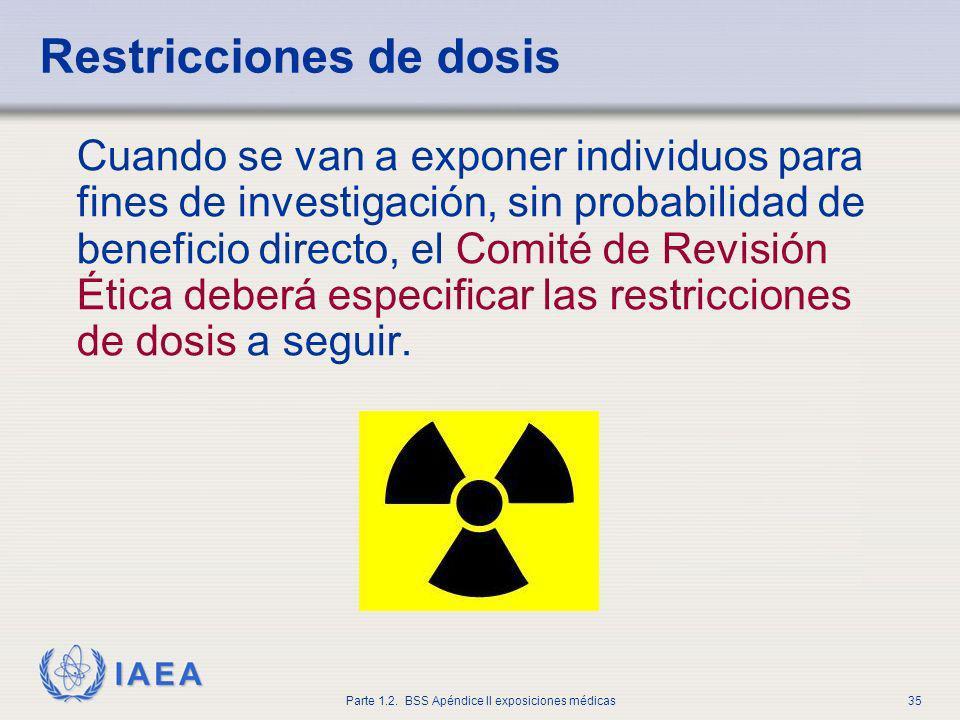Restricciones de dosis