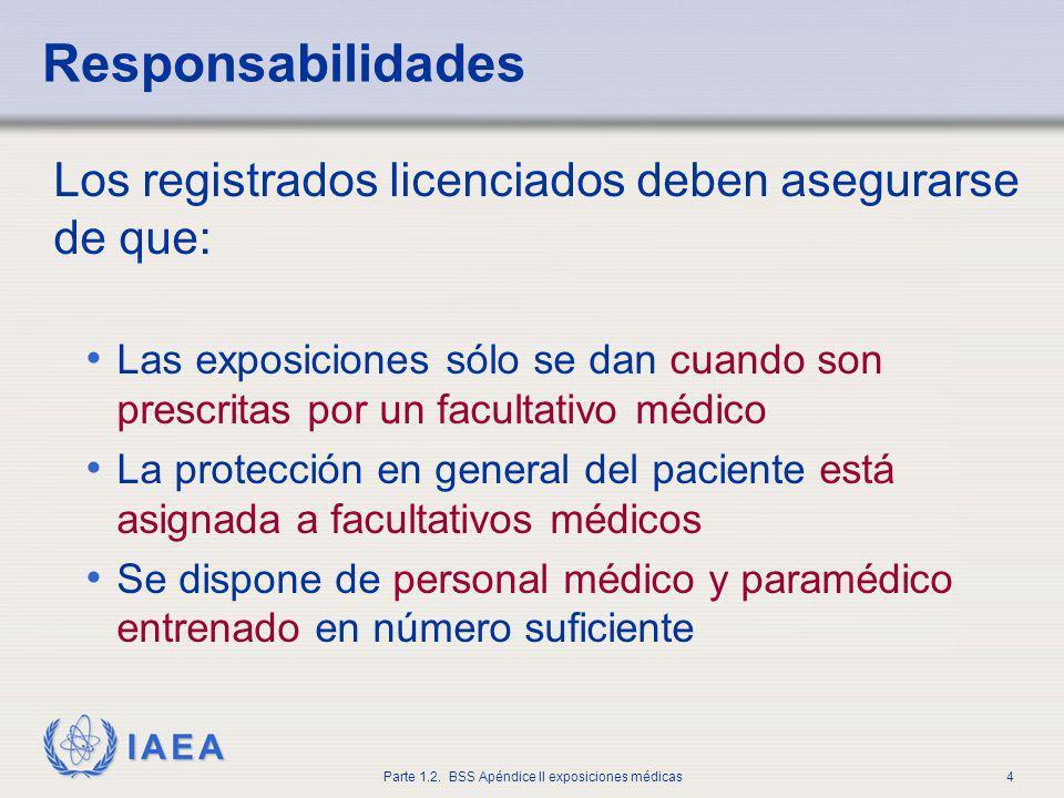 Responsabilidades Los registrados licenciados deben asegurarse de que: