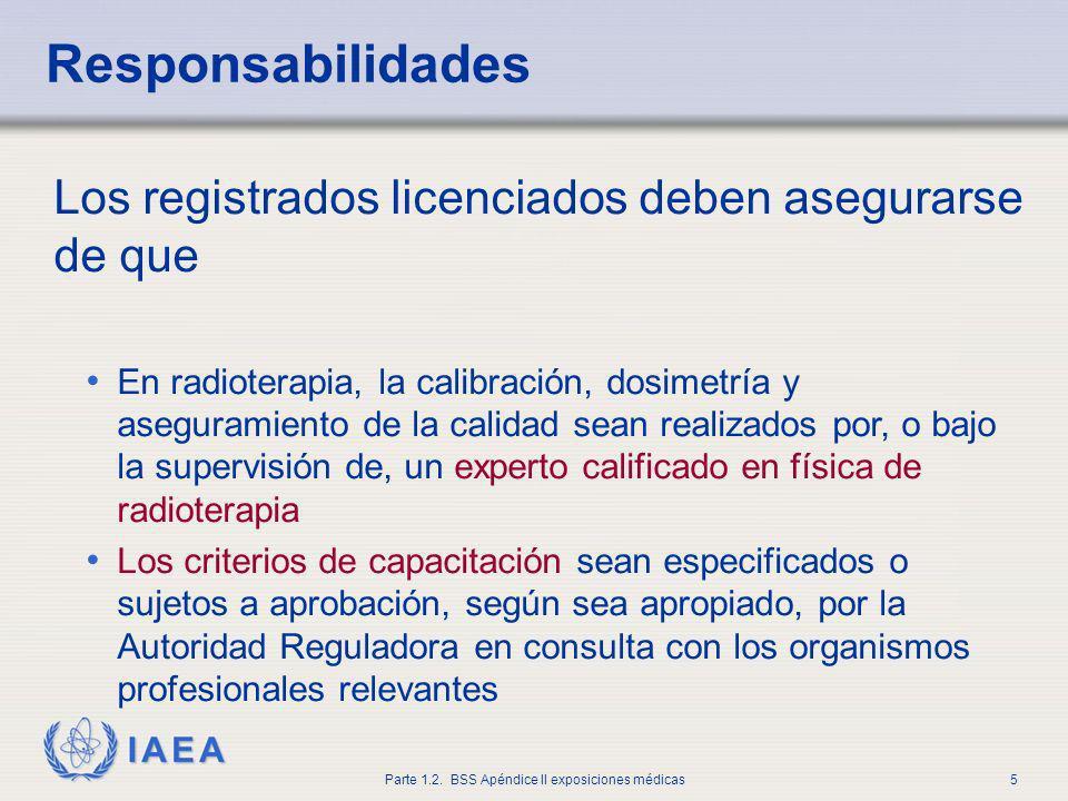 Responsabilidades Los registrados licenciados deben asegurarse de que