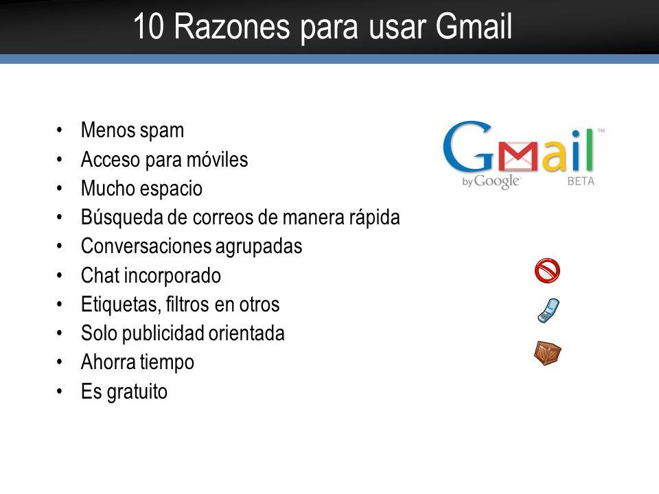 10 Razones para usar Gmail
