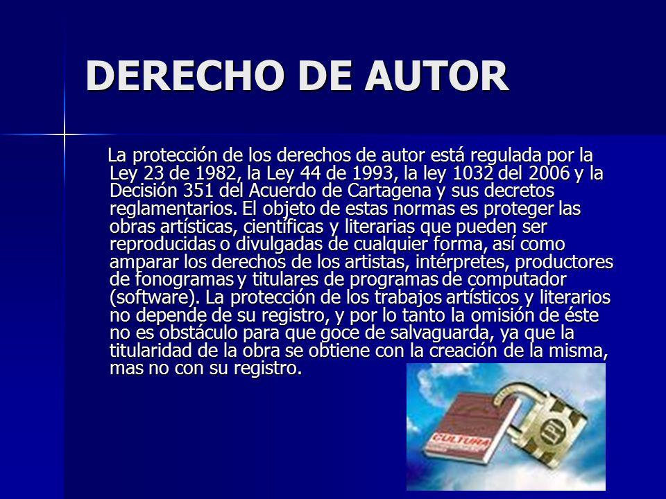 DERECHO DE AUTOR