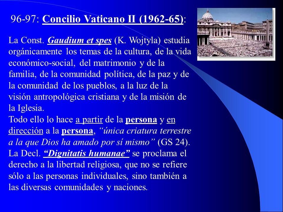 96-97: Concilio Vaticano II (1962-65):