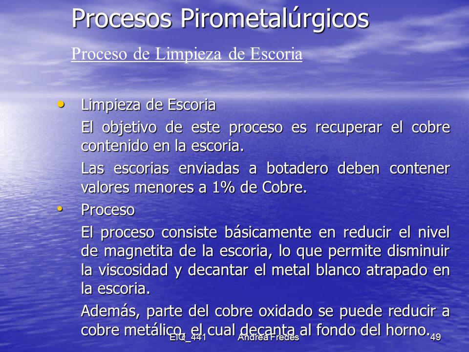 Metalurgia extractiva del cobre ppt descargar - Limpieza de cobre ...