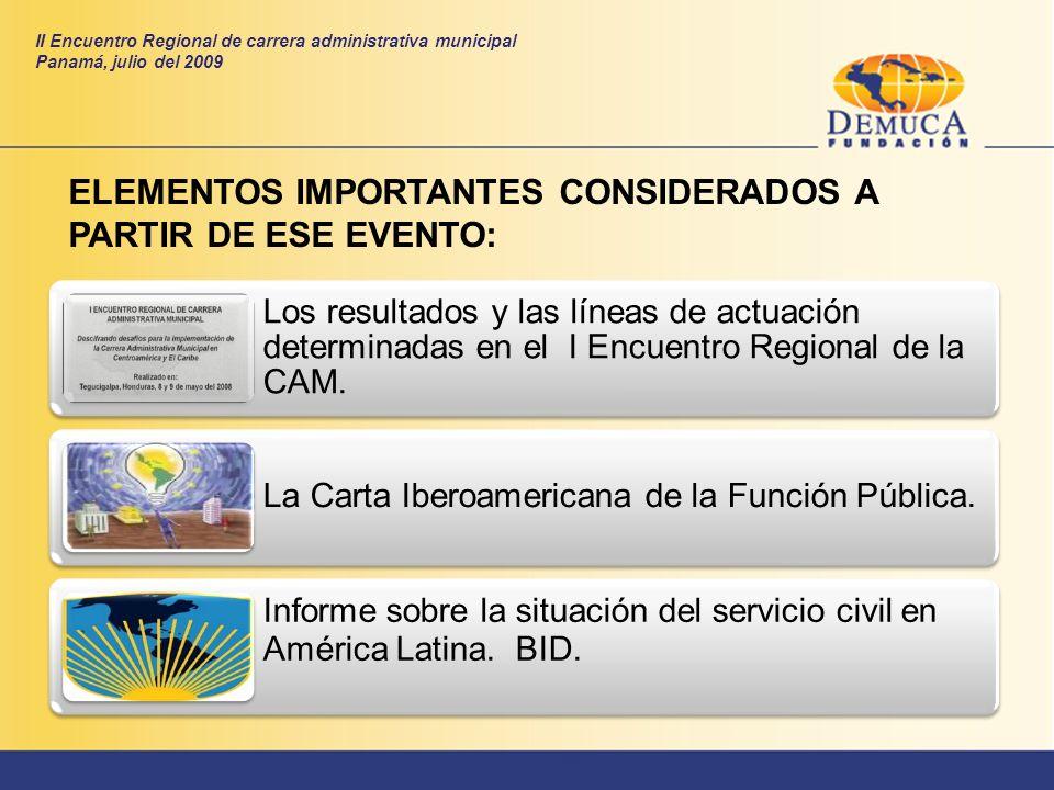ELEMENTOS IMPORTANTES CONSIDERADOS A PARTIR DE ESE EVENTO: